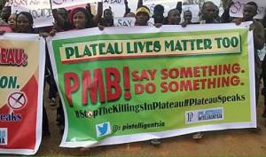 Protestors march against violence in Plateau state, Nigeria. (Sabinews.com)