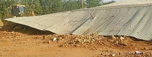 Demolished building of Sudanese Lutheran Church. (Morning Star News)