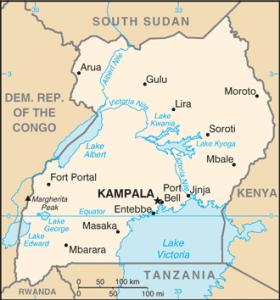Map of Uganda. (CIA)