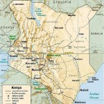 Relief map of Kenya. (By CIA, modified by Mehmet Karatay)