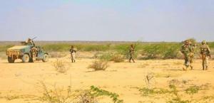African Union troops from Djibouti in Beledweyne, Somalia. (Ilyas A. Abukar, Wikpedia)