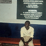 Taika Suleiman, arrested in connection with rape, at Budaka police station. (Morning Star News)