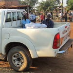 Imam (in white shirt) and two others suspected in killing of Samson Mukama in eastern Uganda. (Morning Star News)