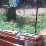 Coffin of Baptist pastor Micah Byamukama. (Morning Star News)