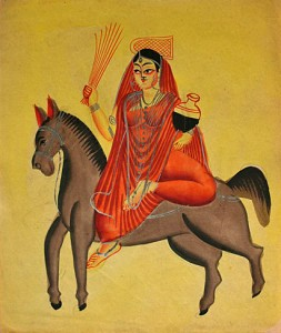 Sheetala, Hindu goddess of healing popular in northern India. (Wikipedia)