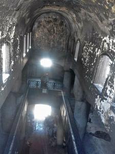 Church building burned in Luxor, Egypt.