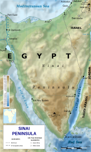 The Sinai Peninsula, Egypt. (Wikipedia, Kaidor)