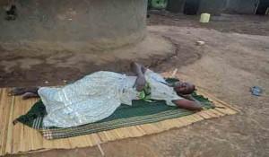 Aisha Twanza recovering from poisoning at her home in Kakwangha, eastern Uganda. (Morning Star News)