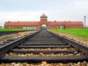 Auschwitz-Birkenau, main track. (Wikipedia, C. Puisney)