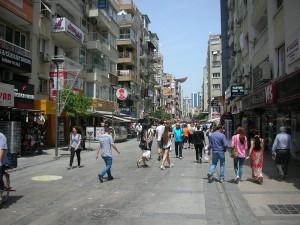 Popular street in Izmir, Turkey. (Wikipedia)