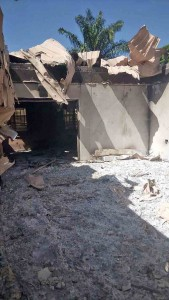 Remains of house of slain ECWA member Daniel Akai by Muslim Fulani herdsmen. (Morning Star News)