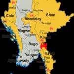 Areas of conflict in Burma (Myanmar). (Wikimedia, CentreLeftRight, Aoetearoa)