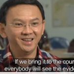 "Jakarta Gov. Basuki ""Ahok"" Tjahaja Purnamat on recent broadcast in Indonesia. (screen grab)"