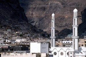 Old Town Aden, Yemen, where terrorists kidnapped Catholic priest. (Wikipedia, Jialiang Gao)