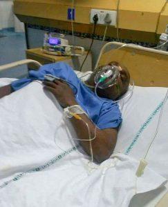 K.A. Swamy after brain hemorrhage.