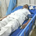 The Rev. Gandham Padma Rao in ICU at Medlife Hospital, Mancherial. (Morning Star News courtesy of family)