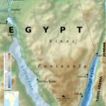 The Sinai Peninsula, Egypt. (Wikipedia, Kaidor)