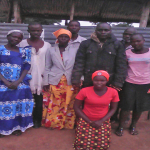 Church members who prayed for Hassan Muwanguzi in eastern Uganda. (Morning Star News)