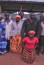 Church members who prayed for Hassan Muwanguzi in eastern Uganda. (Morning Star News)