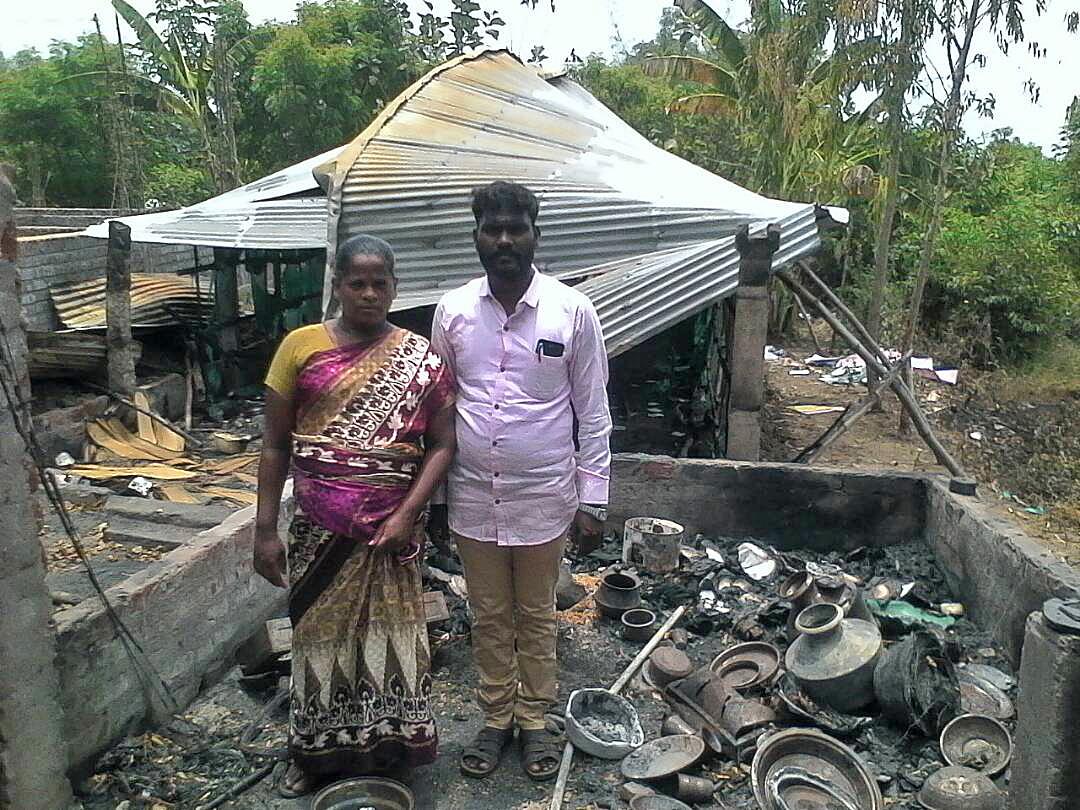Church Building, Pastor's Home Burned Down in Tamil Nadu