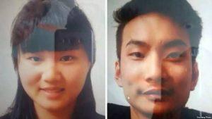 Meng Li Si (Meng Lisi) and Lee Zing Yang (Li Xinheng ). (iFeng.com photo)