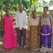 Pastor Amos Lukanula, his wife and church members in Zanzibar. (Morning Star News)