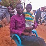 The Rev. Yahia Nalu and his son, living on the street. (Morning Star News)