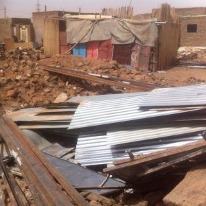 Remains of Sudanese Church of Christ in North Khartoum demolished in 2014. (Morning Star News)