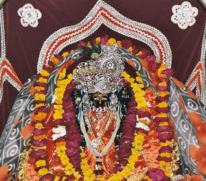 Hindu deity Keshav Dev at temple bearing his name in Mathura, Uttar Pradesh, India. (Wikimedia)