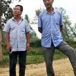 Liu Zigeng (left) threatened to kill a Christian family whose land he and others had seized, according to China Aid Association. (China Aid)