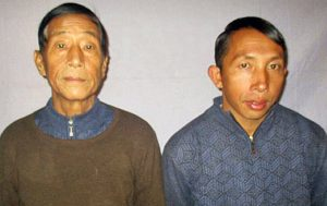 Pastors Dom Dawng Nawng Latt (L) and La Jaw Gam Hseng. (Courtesy of Burma military)