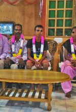 Four of the six Christians jailed and charged in Jharkhand state, India. (Morning Star News courtesy of Singhray Kullu)