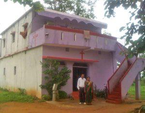 Mahendra Nagdeve and his wife at their home in Madhyra Pradesh, India. (Morning Star News)