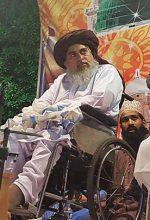Islamist cleric Khadim Hussain Rizvi at lecture in Lahore, Pakistan. (Wikipedia, Muhmmad Qureshi)