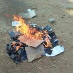 Bibles burned by Hindu extremists in Telangana state, India. (Morning Star News)