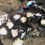 Hindu extremists burn Bibles outside building of church attacked in Sikandar Chavadi, Tamil Nadu, India. (Morning Star News)