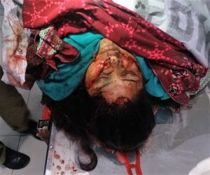Body of Firdous Masih after attack in Quetta, Pakistan. (Morning Star News)