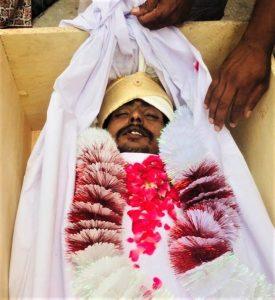 Body of Waqas Masih. (Morning Star News)