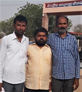 (From left) Sahiram Nayak, Vijender Singh and Kasiram Meghwal. (Morning Star News)