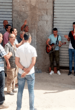 Members of church in Riki, Algeria worship outside building. (Morning Star News)