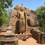 Fifth-century Aukana statue of Buddha in north-central Sri Lanka. (Wikipedia)