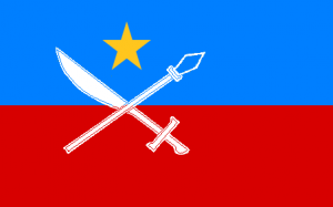 Flag of the United Wa State Army. (Wikipedia)