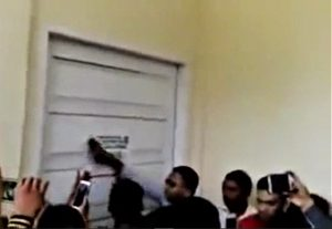 Police post notice sealing shut Methodist church building in Jambi, Indonesia on Sept. 27, 2018. (Morning Star News, screenshot from Youtube)