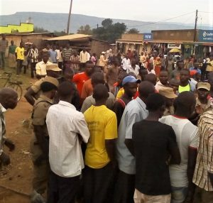 Muslim mob leads police to arrest pastors at event defending Christianity in Sironko, Uganda on Nov. 24, 2018. (Morning Star News)