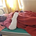 Arjun Mutkekar, injured in Hindu extremist attack on Christians on Dec. 23 in Kohalpur, Maharashtra state, India. (Morning Star News)