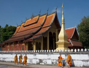 Buddhist temple in Luang Prabang, Laos. (Wikipedia)