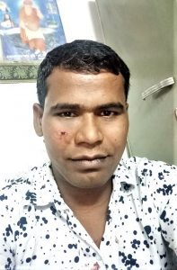 Pastor Ravi Kumar received a blow with a hockey stick below his eye. (Morning Star News)