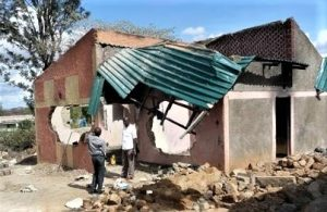 Christian widow's ancestral home on the Somali border with Kenya damaged on Dec. 20, 2018. (Morning Star News)