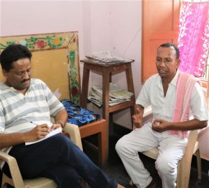 Gornath Chalanseth, right, with author and journalist Anto Akkara after release in May 2019. (Morning Star News)