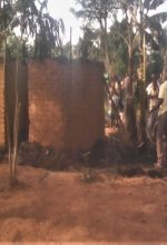 Part of charred home of Yusuf Tulo in Bugwere village, Kibuku District, eastern Uganda. (Morning Star News)